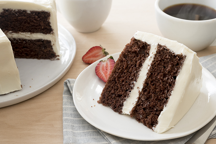Vegan Chocolate Cake with Fluffy White Frosting Recipe Coop