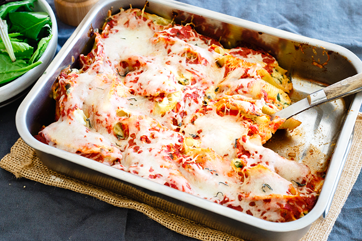 Chicken Ricotta Stuffed Shells Recipe Co Op Welcome To The Table