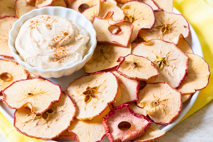 Cinnamon Apple Chips with Dip