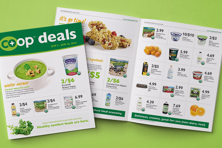 Co+op Deals sales flyer for January 3 -16, 2018.