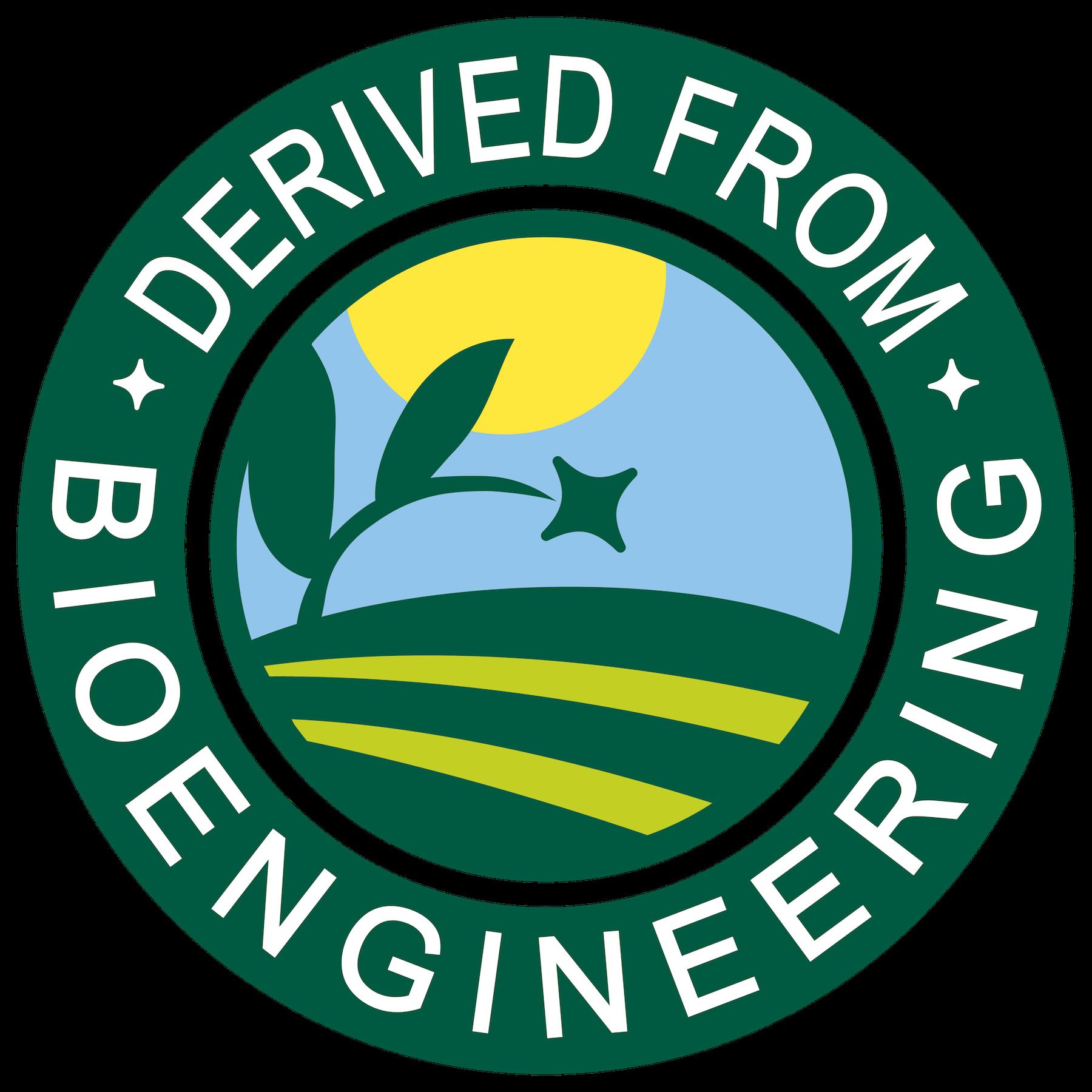 Derived from Bioengineering USDA GMO label