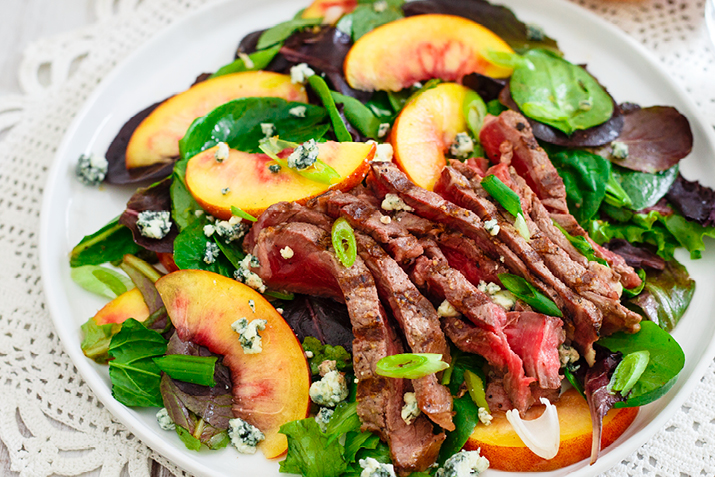 Nectarine Steak Salad Recipe Co Op Welcome To The Table