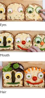 Super Duper Sandwich Faces preparation