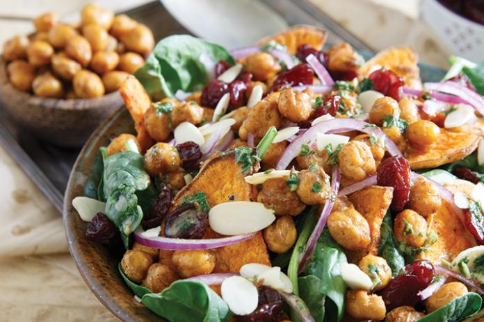 Autumn Salad With Spicy Chickpeas Recipe Co Op Welcome To The Table