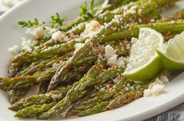 Zesty Broiled Asparagus with Cotija