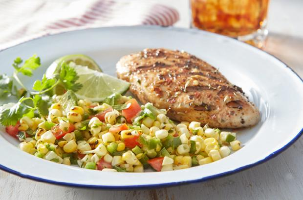 Grilled Corn Salad with Honey-lime Dressing