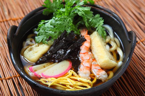 Bowl of udon noodles