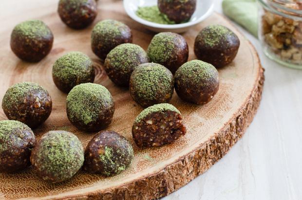 Chocolate Matcha Energy Balls