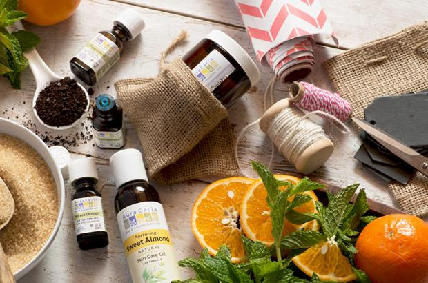 DIY Body Scrub with Essential Oils - courtesy of Aura Cacia