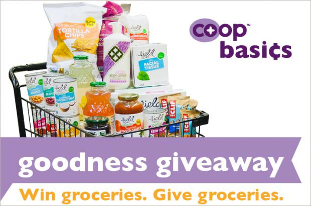 Grocery giveaway at co-ops nationwide