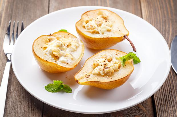 Gorgonzola Stuffed Pears