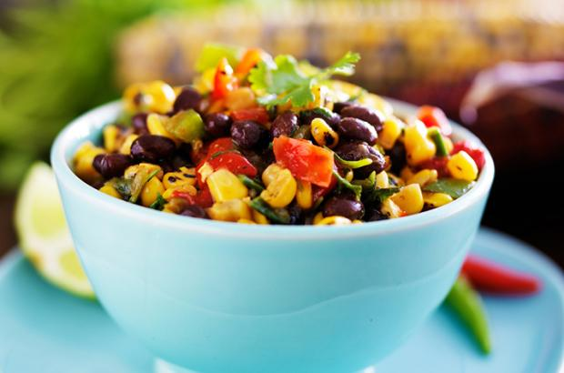 Bowl of mango bean salad