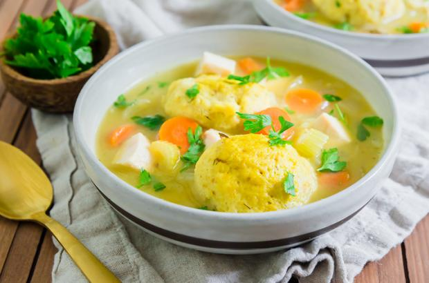 Bowl of Matzo Ball Soup