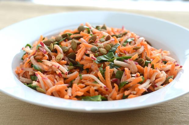 Bowl of Moroccan Carrot Radish Salad