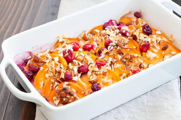 Sweet potato cranberry casserole