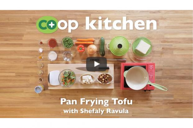 Pan Frying Tofu Video Thumbnail