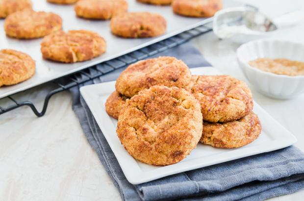Plate of Peanut Butter Snickerdoodle Cookies