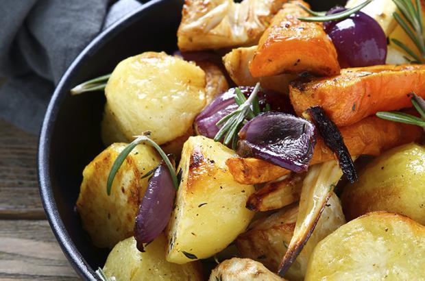 Roasted Carrots, Potatoes and Shallots