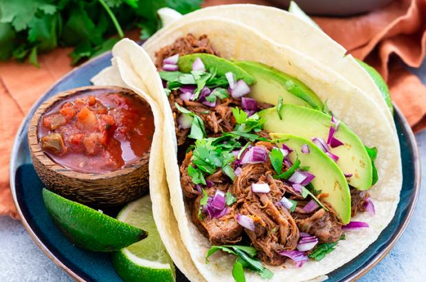 Slow Cooker Orange Chipotle Beef Tacos