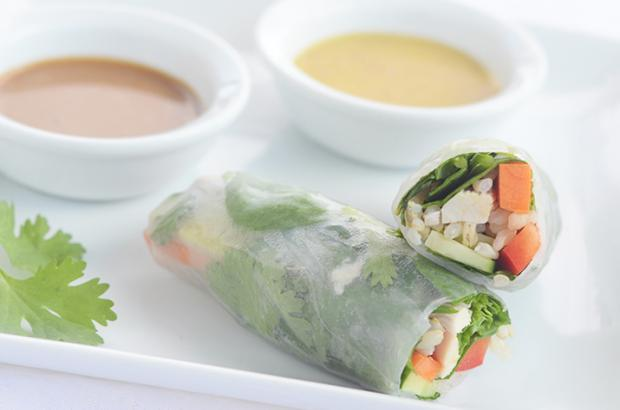Spring Rolls with Dipping Sauces
