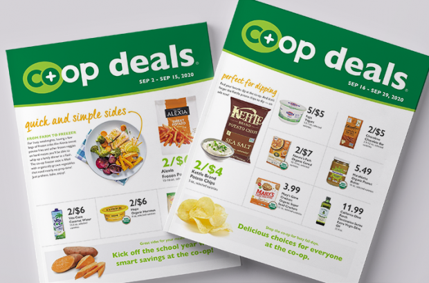 Co+op Deals sales flyer covers