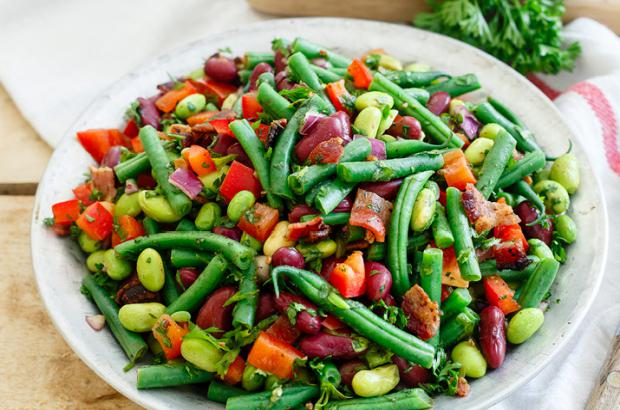 Three Bean Salad with Bacon
