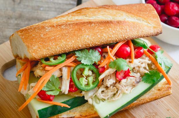 Vietnamese turkey sandwich (Turkey Banh Mi)