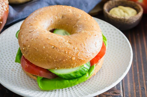 Whole-Grain Bagel Rolls Sandwich