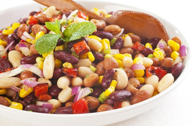 Corn and Kidney Bean Salad (plus other beans)