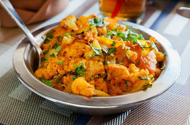 Bowl of Aloo Gobi (Curried Cauliflower)