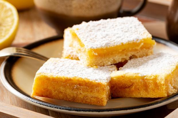 Plate of lemon bars