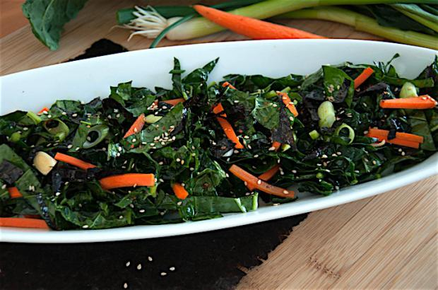 Wakame-Sesame Salad with Pickled Onion Garnish Recipe | Co ...