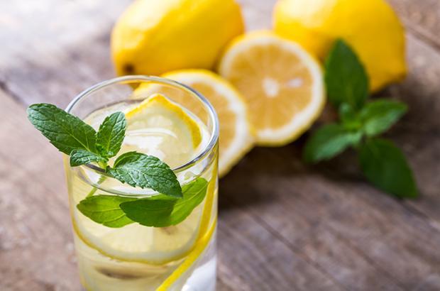 Lemon Mint Infused Water
