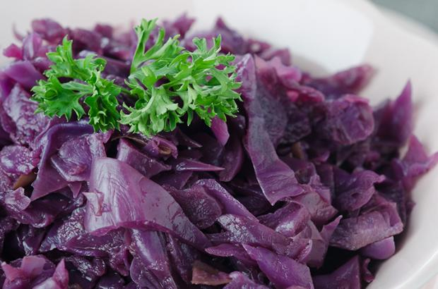 Braised Red Cabbage in a Bowl