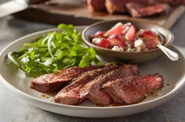 Balsamic Marinated Steak with Grape Relish