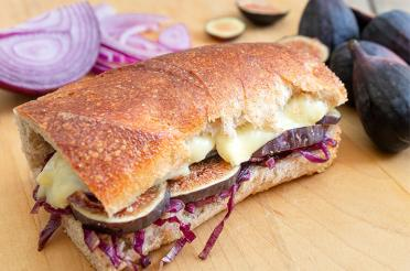 Brie Fig and Onion Panini Sandwich