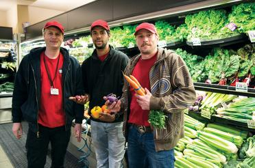Residents at Shelter House shop at BriarPatch Food Co-op as part of their training program dinner