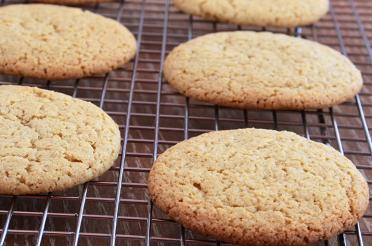 Eggnog Spiced Sugar Cookies on cooling rack