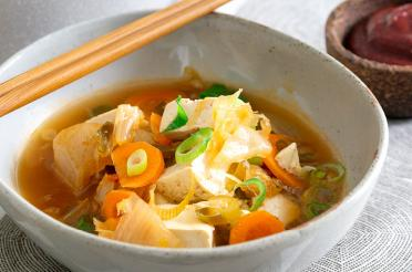 Bowl of kimchi tofu stew