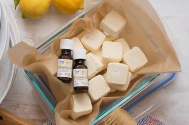 Make Your Own Dishwasher Soap Pods with Aura Cacia Oils