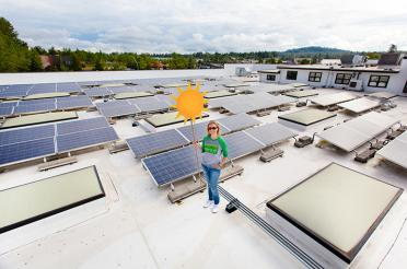 Climate Awards Offer a Glimpse of the Future of Food  - solar panels seen on the top of one co-op