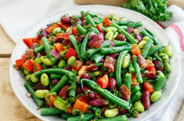 Three Bean Salad with Bacon