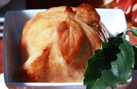 Apple Dumplings with Cider-Cinnamon Sauce
