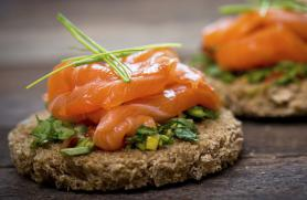 Canapes with Smoked Salmon and Fresh Herbs