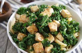 Garlic Tofu and Greens
