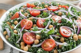 Goddess Chickpea Salad with Kale