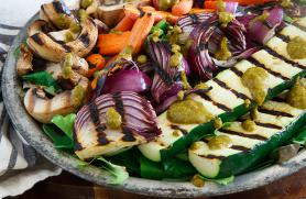 Grilled Veggies with Smoked Paprika Vinaigrette