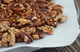 Maple Chipotle Spiced Nuts