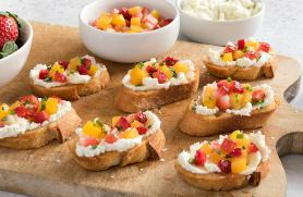 Peach and Strawberry Bruschetta