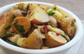 Rosemary Roasted Potatoes with Artichokes